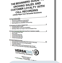 Download The Beginners Guide to Sales and Customer Loyalty by using only a Call Recorder