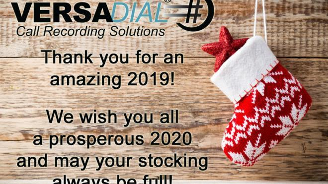 HAPPY HOLIDAYS 2019 - VERSADIAL SOLUTIONS